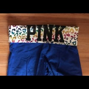Pink Xtra-small Blue Leggings/ Yoga Pants XS